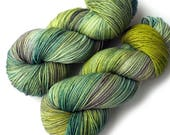 Hand Dyed Yarn Merino Cashmere Nylon Sock Yarn - Fresh Start
