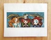 Alice in Wonderland Tea Party Die Cut Vinyl Sticker Decal