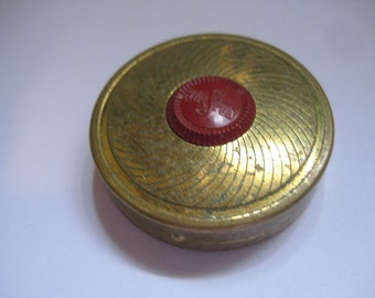 COTY NY Sub Deb Air Spun Rouge Bright in Brass Compact