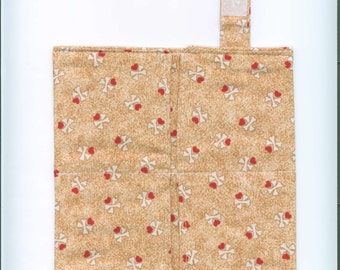 Handmade Fabric Tea Bag Wallet, MINI BONES, Four Pockets, FREE Shipping,  Holds Tea & Sweetener - Also Travel Jewelry Wallet