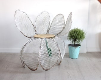 Midcentury Wire Daisy Chair Outdoor Garden