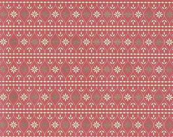 Red Scandinavian Style Christmas Italian Paper ~ Kartos Italy K201