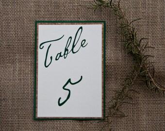 Winery Vineyard Wedding Table Number Layered Cork Wedding Sign Deposit