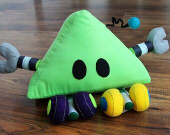 Green Trig - Big Plush Robot