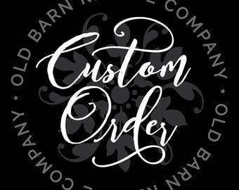 custom order for Claudia - Replacement Wall Decal
