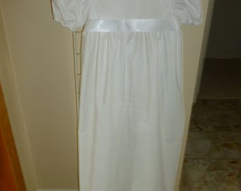 White Wendy Inspired Dress with Puffed Sleeves for Girls