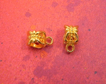 20 Gold Plated Bail Butterfly Connector Charm European Spacer Beads Fits Charm Bracelets