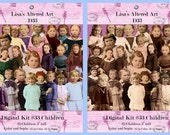 Digital Kit-33 -For Digital Art and Cut out- 25 Beautiful Children in color and sepia tones. Also includes jpeg images on collage sheets.