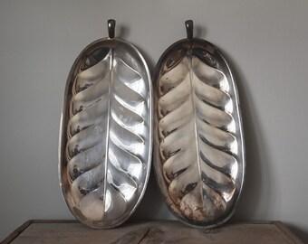 Vintage Platter, Silverplate Platter, Leaf Platter, Vintage Serving Platter, Serving Platter, Table Ware, Serving Ware, Vintage Home Decor
