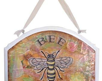 Bee Kind Bumblebee Wall Plaque