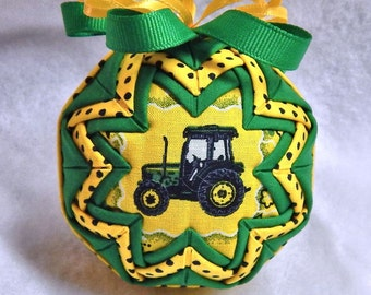 Quilted Ornament - Tractor theme