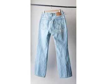 1990s Levi's 517 Light Wash Boot Cut Jeans