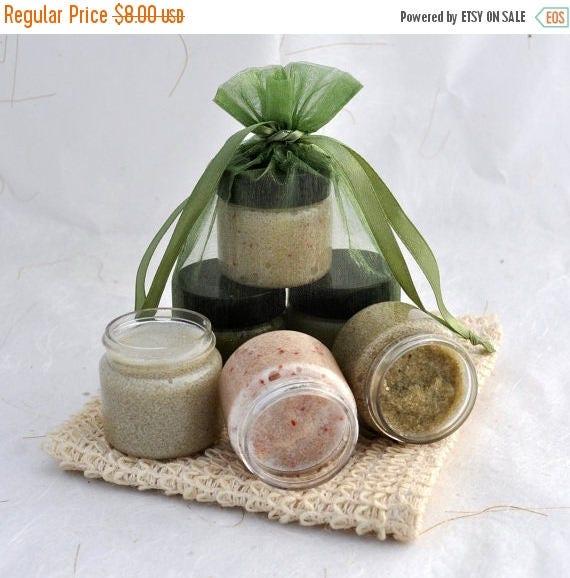 Sugar Scrub Sampler Set, Cranberry, Coconut Lime, Lavender, Gift Set