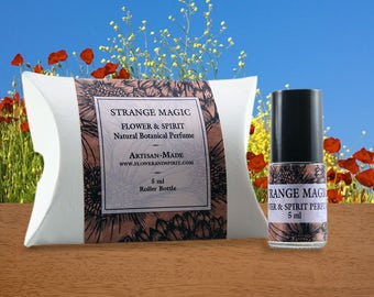 Strange Magic, Organic Botanical Perfume Oil, 100% Natural with Essential Oils, Absolutes and Flower Essences including Oak Moss, Neroli
