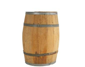Wooden Barrel | Antique General Store | Vintage Flour Container | Modern Farmhouse | Retro Home Decor | Retail Store Prop