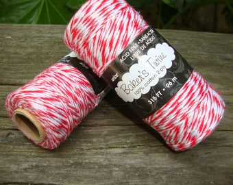 Red white and silver bakers twine 315ft party gift wrap crafts supplies packaging kids party favor wrapping metallic silver bakers twine