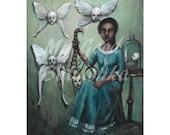 The Entomologist, Digital Download, Surrealism, Bugs, Moths, Fairytale, Folktale, Anthropomorphic Bugs, Insects, Butterflies, Weird Art