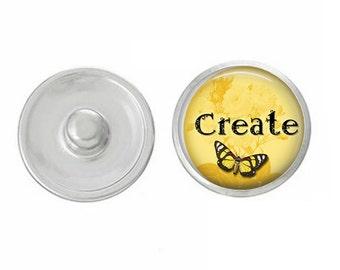 ArtPoppers Snap Charms - Snap Jewelry -  - Gingersnaps Jewelry - Pendants  - Bracelets - Create Yellow - boho - bridesmaid - gift - oh snap