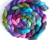 Merino Wool Roving Superfine - Hand Dyed Spinning or Felting Fiber, Blooming Treasures