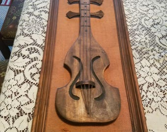 Truly Vintage Wooden Violin Wall Art Framed