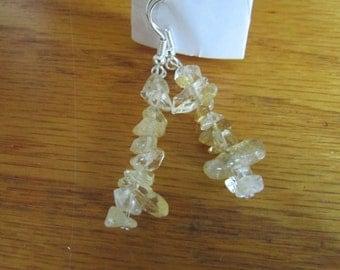 clear glass bead dangle earrings