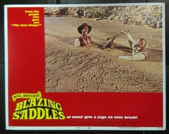 Blazing Saddles Original Lobby Card - Movie Poster - Gene Wilder - Mel Brooks