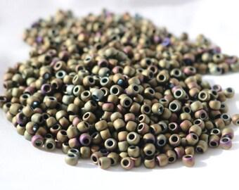 6/0 Matte-Color Iris- Brown Toho seed bead, 20 gram bag, Color# TR-06-614