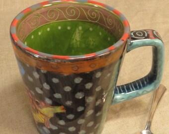 Whimsical Fish Mug