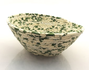Small Green and Cream Bowl