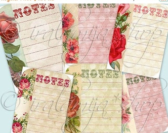 SALE NOTES Collage Digital Images -printable download file-