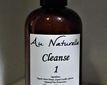 CLEANSE  1 -  All Natural Honey Facial Cleanser  - 4 Ounce - Gentle -  Sensitive Skin Types - (Originally Honey Cleanse)