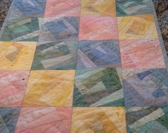Scrappy Pastels Baby Quilt