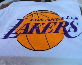 NBA Los Angeles Lakers Women Tank Top / Vintage Throw Back Lakers Tank / Womens Small Tank