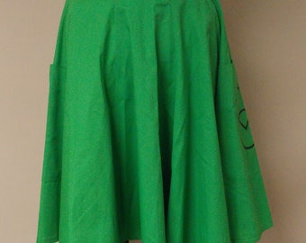 Vintage Square Up Fashions Apple Green square dance skirt extremely flared huge pockets