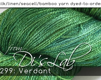 From the Lab - DtO 299: Verdant on Silk/Linen/Seacell/Bamboo Yarn Custom Dyed-to-Order