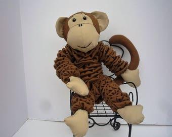 Yo Yo Monkey gift fabric quilt jungle zoo safari baby decor