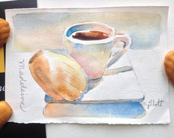 Original watercolor 'Mamy Therese' madeleines #4