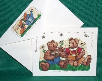 NOTECARDS---with Bears by designer Teresa Kugot