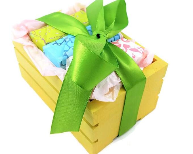Soap Box Gift, 3 soap gift, Soap Gift, Mother's Day Gift, Birthday Gift, Gift Set, Vegan gift, Christmas Gift, Housewarming Gift, Soap Crate