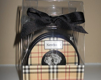 Baby Closet Dividers-set of 9-LONDON PLAID-in Acrylic Gift Box