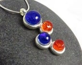 Petite Cascade Necklace - Vibrant Blue & Orange - Broncos, Boise State Fans