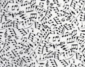 White Alexander Henry Making Music Print 100% Cotton Quilting Fabric