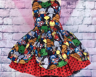 Superhero Kawaii Twirl Dress