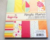 """Simple Stories Sunshine & Happiness 6x6"""" Cardstock Paper Pad, 24 Double-Sided Sheets"""