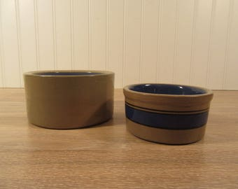 Two vintage stoneware glazed bowls for one price