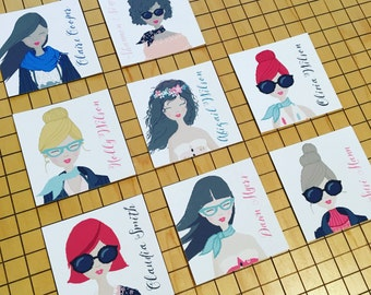 Trendsetter Enclosure Gift Tags - Big Sunglasses Enclosure Cards - Cotton Enclosure Cards - Cotton Tags