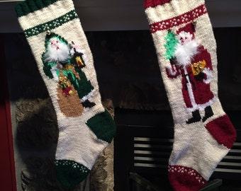 Hand Knit Christmas Stockings