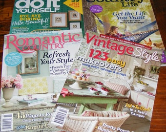Romantic Country Spring 2017 Vintage Style Spring 2017 Living the Country Life Summer 17 Do it Yourself Spring 17 Magazine Lot