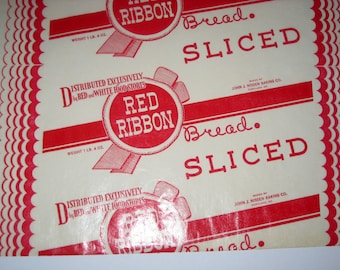 Vintage Waxed Paper Bread Wrapper for Paper Crafting, Scrapbooking, etc.
