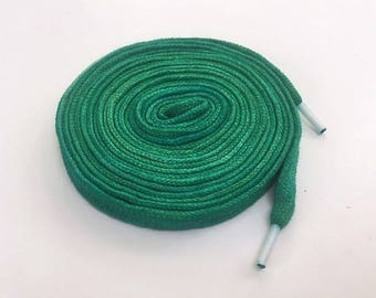 Hand Dyed High Top Shoelaces (63 inch) Green with Envy